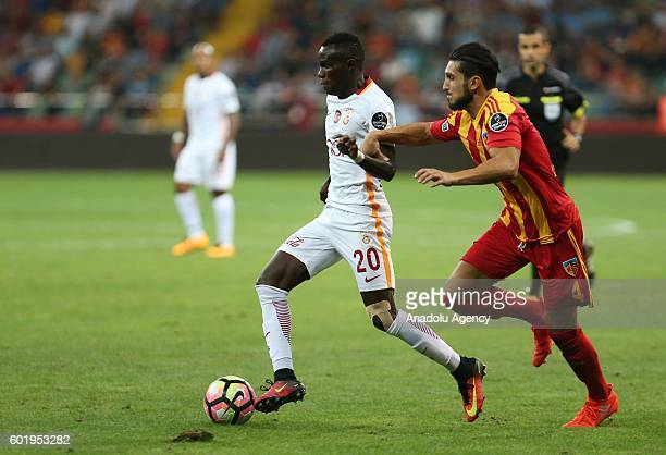 Bruma of Galatasaray is in action during the Turkish Spor Toto Super Lig football match between Kayserispor and Galatasaray at Kadir Has stadium in...