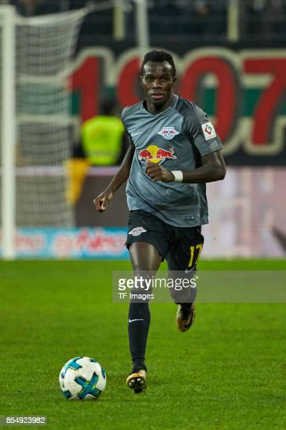 Bruma of Leipzig controls the ball during the Bundesliga match between FC Augsburg and RB Leipzig at WWKArena on September 19 2017 in Augsburg Germany