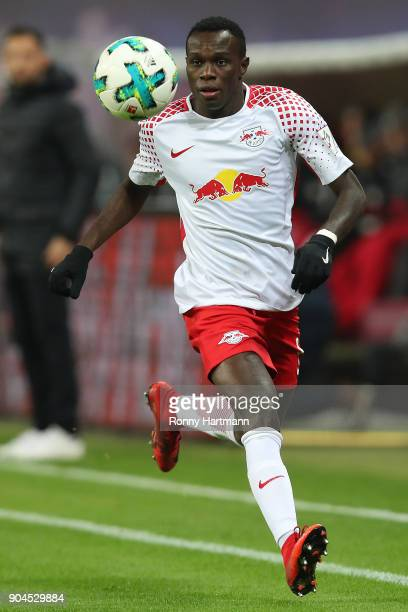 Bruma of Leipzig runs with the ball during the Bundesliga match between RB Leipzig and FC Schalke 04 at Red Bull Arena on January 13 2018 in Leipzig...