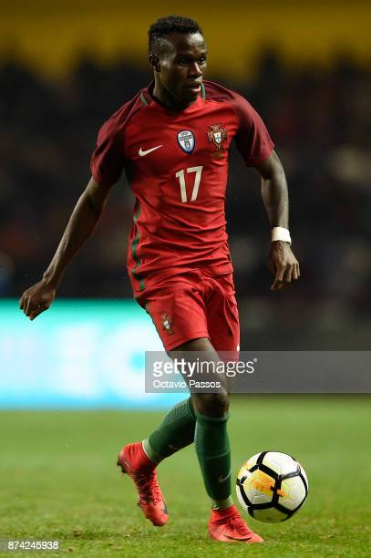 Bruma of Portugal in action during the International Friendly match between Portugal and USA at Estadio Municipal Leiria on November 14 2017 in...