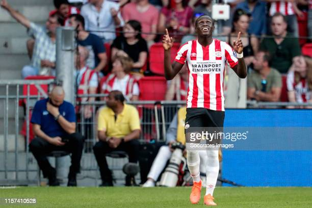 Bruma of PSV celebrates 1-0 during the UEFA Champions League match between PSV v Fc Basel at the Philips Stadium on July 23, 2019 in Eindhoven...