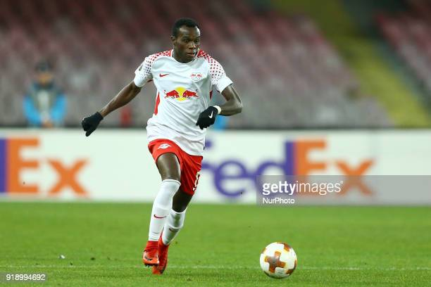 Bruma of RB Leipzig during UEFA Europa League Round of 32 match between Napoli and RB Leipzig at the Stadio San Paolo on February 15 2018 in Naples...