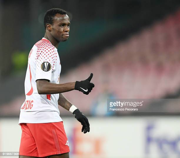 Bruma of RB Leipzig in action during UEFA Europa League Round of 32 match between Napoli and RB Leipzig at the Stadio San Paolo on February 15 2018...