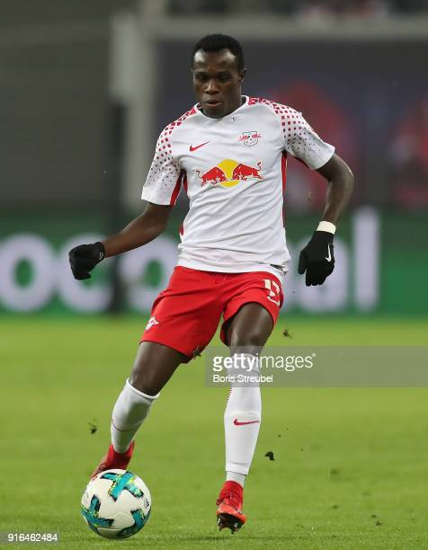 Bruma of RB Leipzig runs with the ball during the Bundesliga match between RB Leipzig and FC Augsburg at Red Bull Arena on February 9 2018 in Leipzig...