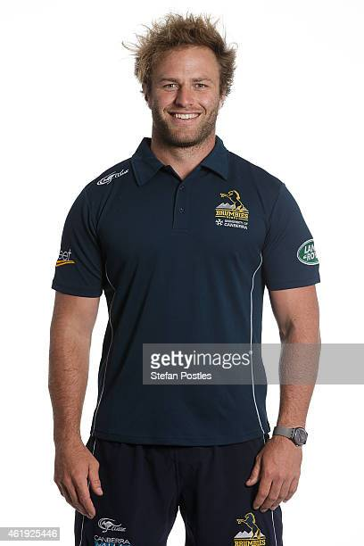 Brumbies Scrum Coach Dan Palmer poses during the ACT Brumbies Super Rugby headshots session on January 21, 2015 in Canberra, Australia.