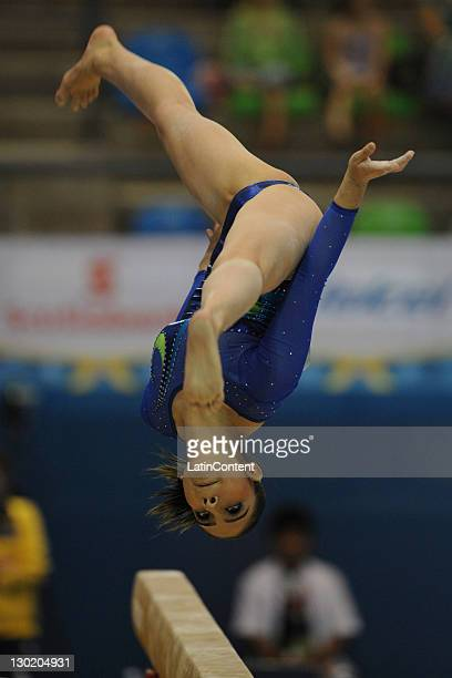 Bruna Leal of Brazil in action during the women's qualification team final of the Artistic Gymnastic competition as part of the Pan American Games...