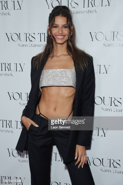 """Bruna Lirio attends Celebrity Photographer Sam Dameshek's Black Tie Book Release Event For """"Yours Truly"""" at Fellow on July 29, 2021 in Los Angeles,..."""