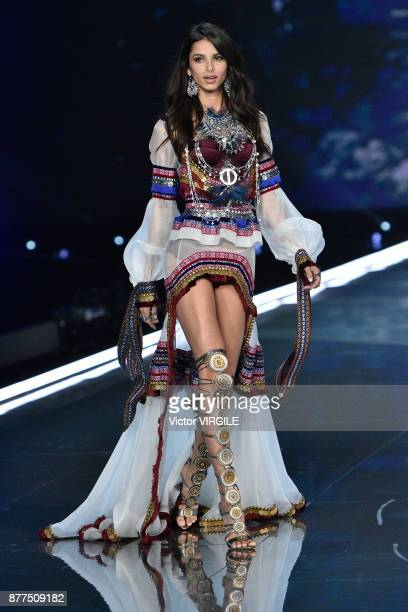 Bruna Lirio walks the runway at the 2017 Victoria's Secret Fashion Show In Shanghai Show at MercedesBenz Arena on November 20 2017 in Shanghai China