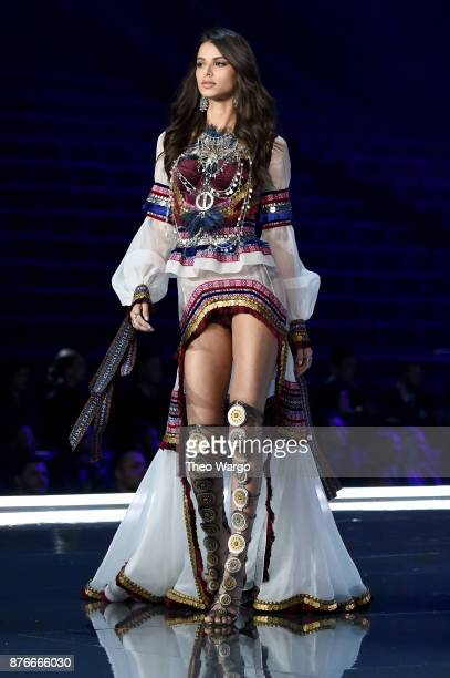 Bruna Lirio walks the runway during the 2017 Victoria's Secret Fashion Show In Shanghai at MercedesBenz Arena on November 20 2017 in Shanghai China