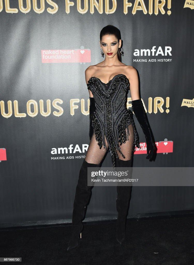 Bruna Liro at the 2017 amfAR & The Naked Heart Foundation Fabulous Fund Fair at the Skylight Clarkson Sq on October 28, 2017 in New York City.