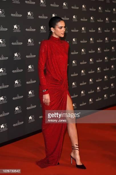 Bruna Marquezine arrives for the JaegerLeCoultre Gala Dinner during the 75th Venice International Film Festival at Arsenale on September 4 2018 in...