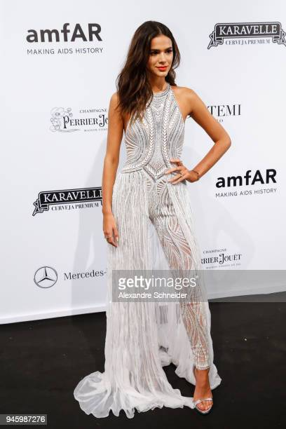 Bruna Marquezine attends during the 2018 amfAR Gala Sao Paulo at the home of Dinho Diniz on April 13 2018 in Sao Paulo Brazil