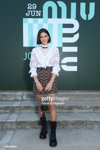 Bruna Marquezine attends miu miu club event at Hippodrome d'Auteuil on June 29 2019 in Paris France