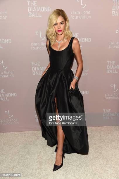 Bruna Marquezine attends Rihanna's 4th Annual Diamond Ball benefitting The Clara Lionel Foundation at Cipriani Wall Street on September 13 2018 in...