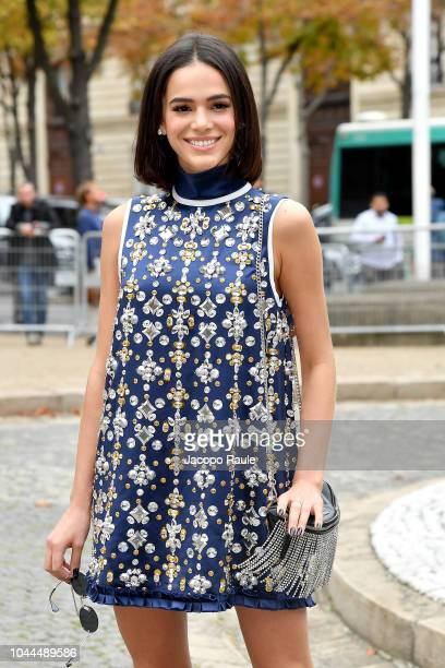 Bruna Marquezine attends the Miu Miu show as part of the Paris Fashion Week Womenswear Spring/Summer 2019 on October 2 2018 in Paris France