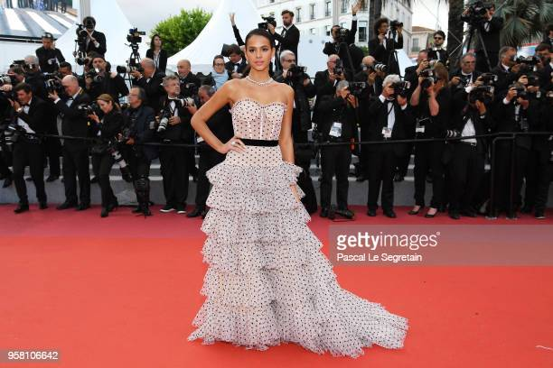 Bruna Marquezine attends the screening of 'Sink Or Swim ' during the 71st annual Cannes Film Festival at Palais des Festivals on May 13 2018 in...