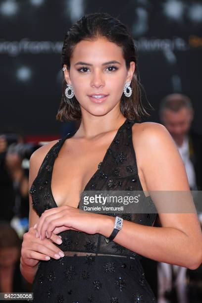 Bruna Marquezine fashion details walks the red carpet ahead of the 'The Leisure Seeker ' screening during the 74th Venice Film Festival at Sala...