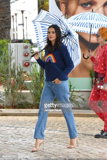 Bruna Marquezine is seen arriving at Hotel Martinez during the 71st annual Cannes Film Festival at on May 14 2018 in Cannes France
