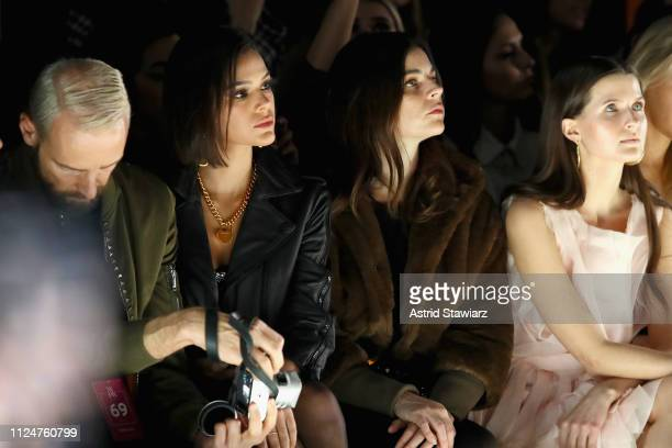 Bruna Marquezine Julia Restoin Roitfeld and Jessica Markowski attend the Rosa Cha front row during New York Fashion Week The Shows at Gallery I at...