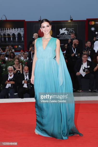Bruna Marquezine walks the red carpet ahead of the 'A Star Is Born' screening during the 75th Venice Film Festival at Sala Grande on August 31 2018...
