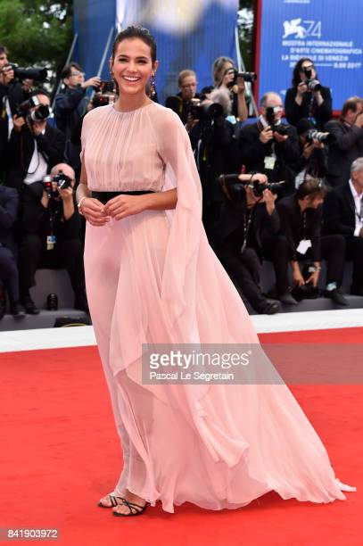 Bruna Marquezine walks the red carpet ahead of the 'Suburbicon' screening during the 74th Venice Film Festival at Sala Grande on September 2 2017 in...
