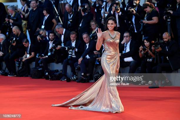 Bruna Marquezine walks the red carpet ahead of the 'The Sisters Brothers' screening during the 75th Venice Film Festival at on September 2 2018 in...