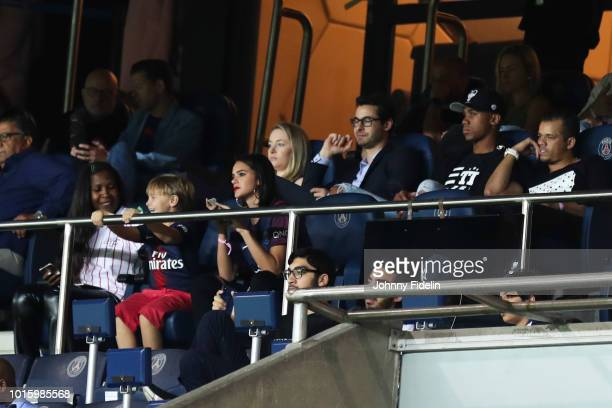 Bruna Marquezine wife of Neymar Jr during the French Ligue 1 match between Paris Saint Germain and Caen at Parc des Princes on August 12 2018 in...