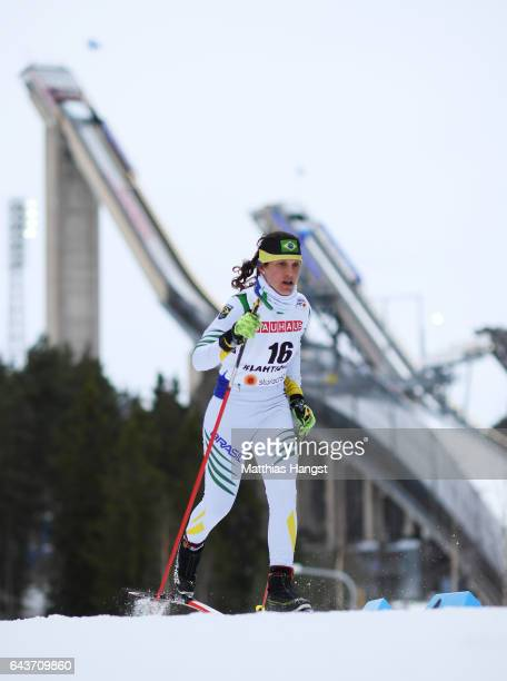Bruna Moura of Brazil competes in the Women's 5km Cross Country Qualification race during the FIS Nordic World Ski Championships on February 22 2017...