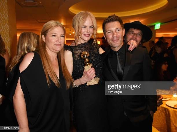 Bruna Papandrea Nicole Kidman Per Saari and Nathan Ross attend HBO's Official Golden Globe Awards After Party at Circa 55 Restaurant on January 7...