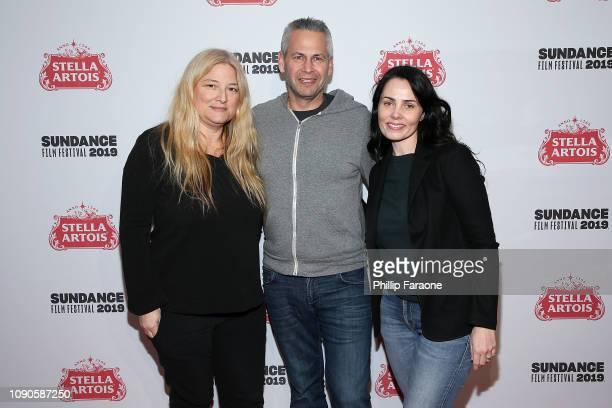 Bruna Papandrea Steve Hutensky and Jodi Matterson attend the 'Little Monsters' celebration at Stella's Film Lounge during the 2019 Sundance Film...