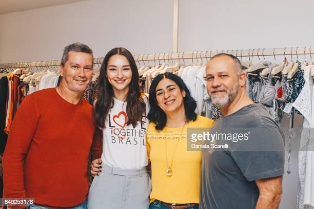 Bruna Tenorio and a guest attends at Bazar Beneficiente Amor Por Estilo Love Togheter >> on August 27 2017 in Sao Paulo