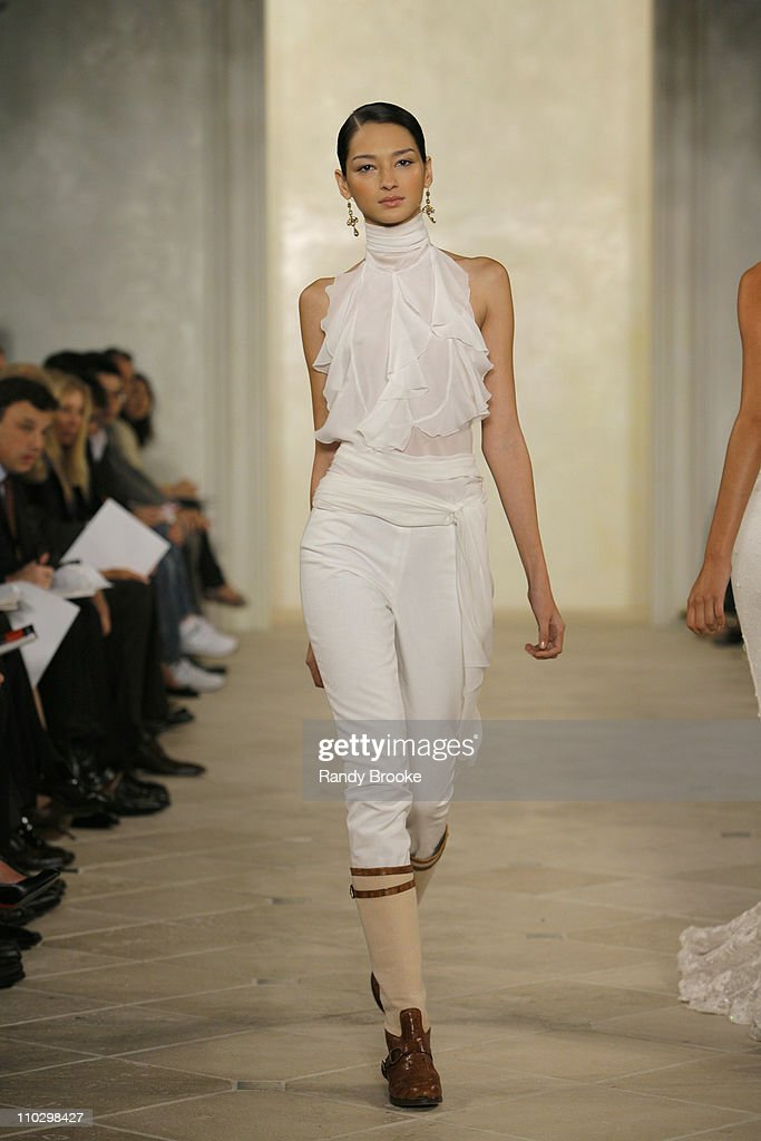 Bruna Tenorio Wearing Ralph Lauren Spring 2007 During Olympus Fashion News Photo Getty Images