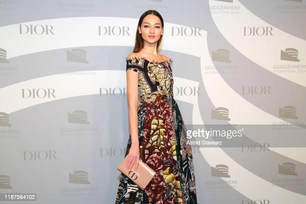 Bruna Tenório attends 2019 Guggenheim International Gala PreParty at Solomon R Guggenheim Museum on November 13 2019 in New York City