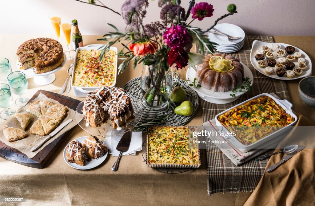 Brunch buffet table : Stock-Foto