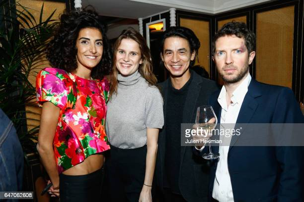 Brune Buonoman Marie de Menthon a guest and Ben Kelway attend the Mastermind Magazine launch dinner as part of Paris Fashion Week Womenswear...