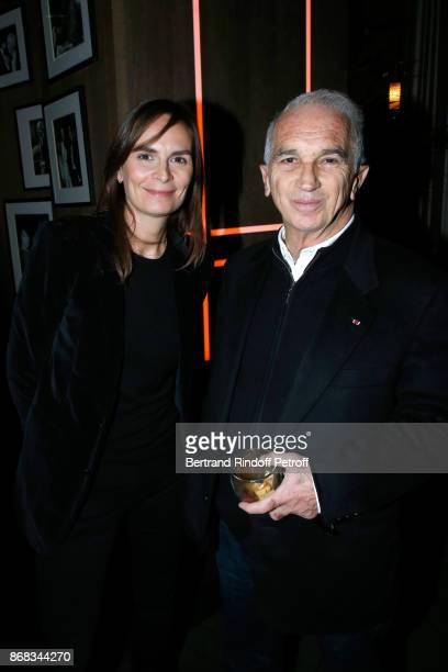 Brune de Margerie and Alain Terzian attend Claude Lelouch celebrates his 80th Birthday at Restaurant Victoria on October 30 2017 in Paris France