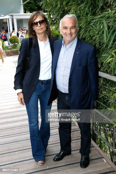 Brune de Margerie and Alain Terzian attend the 2017 French Tennis Open Day Height at Roland Garros on June 4 2017 in Paris France