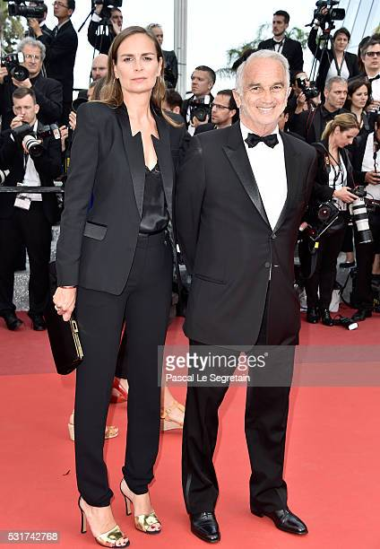 Brune de Margerie and Alain Terzian attend the 'Loving' premiere during the 69th annual Cannes Film Festival at the Palais des Festivals on May 16...