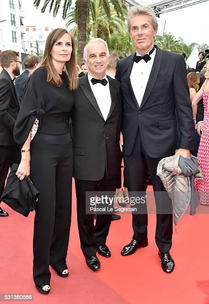 Brune de Marjerie Alain Terzian and Dominique Desseigne attend 'The BFG ' premiere during the 69th annual Cannes Film Festival at the Palais des...