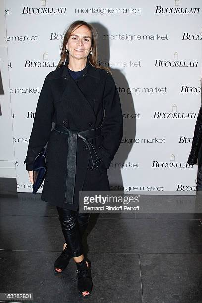 Brune de Marjorie attends the Buccellati Blossom Butterfly and Daisy new collection presentation with the 4th generation of the Buccellati family at...