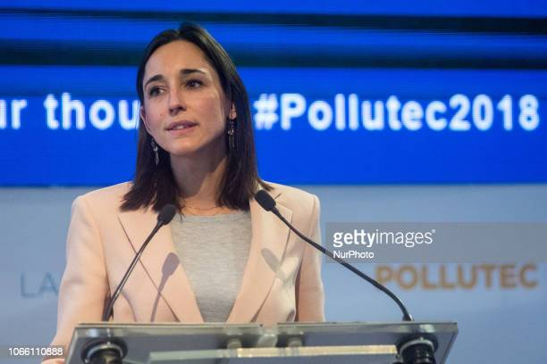 Brune Poirson Secretary of State to the Minister of Ecological and Solidarity Transition visits the Pollutec exhibition in Lyon France on 28 November...