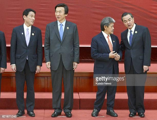 BEGAWAN Brunei Japanese Foreign Minister Fumio Kishida South Korean Foreign Minister Yun Byung Se Brunei Foreign Minister Mohamed Bolkiah and Chinese...