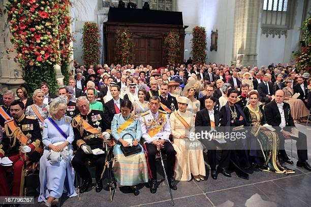 Brunei's Crown Prince AlMuhtadee Billah Bolkiah Camilla Duchess of Cornwall Britain's Prince Charles of Wales Princess Sirindhorn of Thailand...