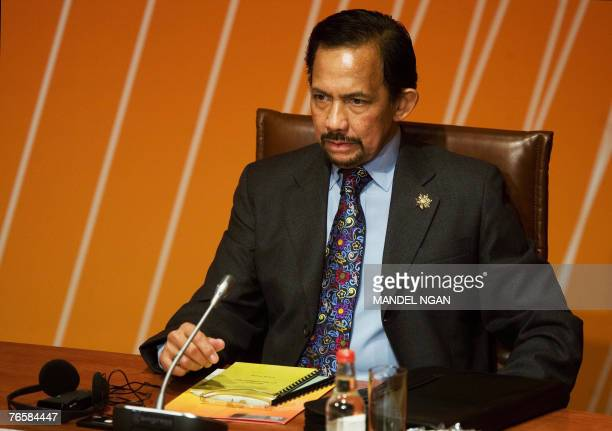 Brunei's Sultan Hassanal Bolkiah waits for the start of the Leaders' Retreat 08 September 2007 during the AsiaPacific Economic Cooperation summit at...