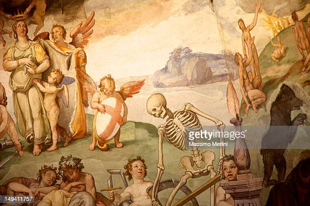 brunelleschi cupola, florence duomo, italy - baroque stock pictures, royalty-free photos & images