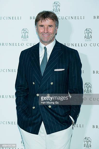 Brunello Cucinelli attends the flagship store opening of Brunello Cucinelli on November 5 2014 in Seoul South Korea