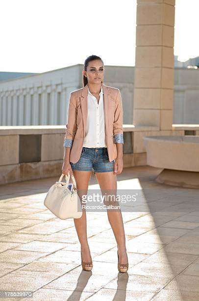 Brunette girl dressed with blazer
