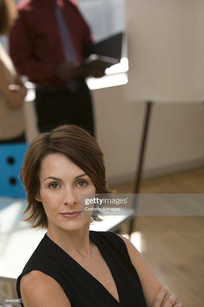 Brunette woman : Stockfoto