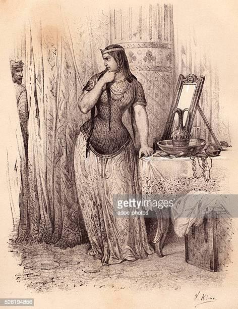 Brunhilda of Austrasia Visigothic princess Lithography