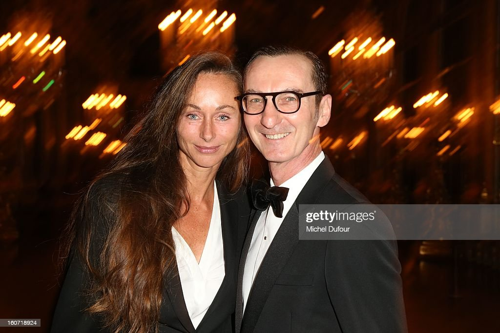 Bruni Frisoni and guest attend the David Khayat Association 'AVEC' Gala Dinner at Chateau de Versailles on February 4, 2013 in Versailles, France.